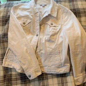 White denim jacket style & co.
